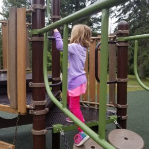 Picture of child playing on playground